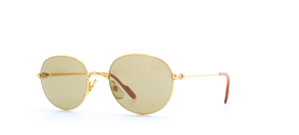 4b559706ee Cartier Antares T8200.205 GLD Gold Certified Vintage Rectangular Sunglasses  For Mens and Womens