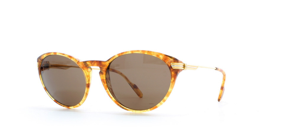 ad3dcd5723 Cartier Aurore T8200.127 Honey Brown Certified Vintage Rectangular  Sunglasses For Mens and Womens