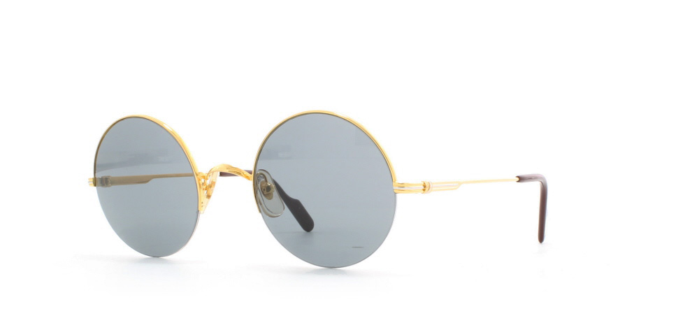 35c1db6ac3198 Cartier Mayfair T8200.080 GLD Gold Certified Vintage Round Sunglasses For  Mens and Womens