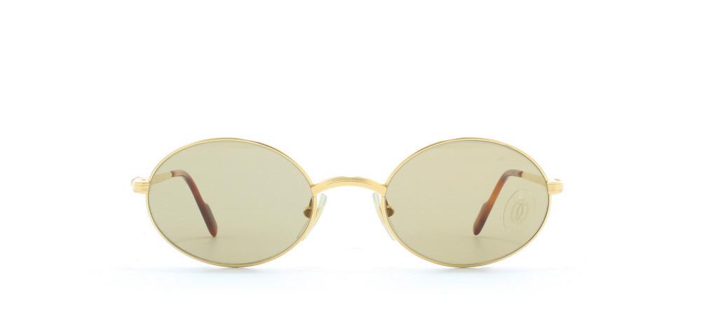 f8e82bd84b80 Cartier Sorbonne T8200.260 GLD Gold Certified Vintage Oval Sunglasses ...